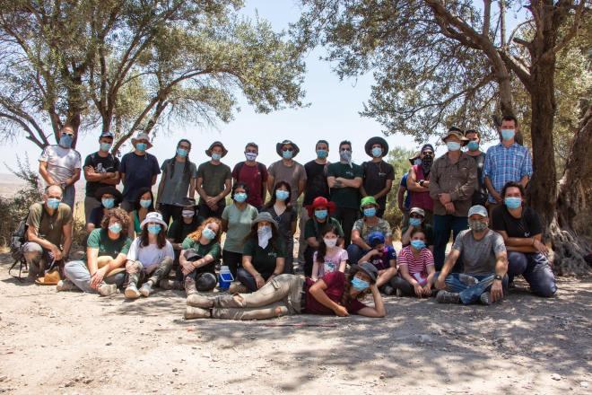 משלחת חפירות תל חדיד - עונת 2020; צילום: נועם קודש